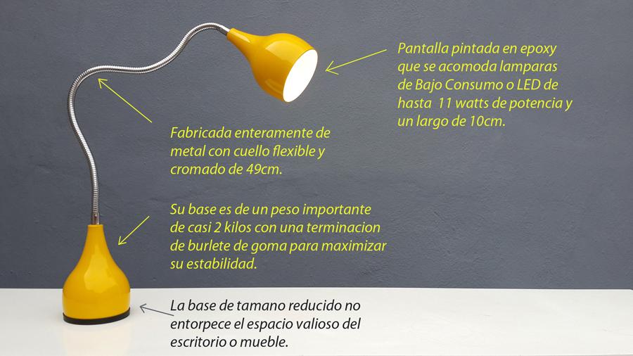 Lampara Moderna Escritorio Bajo Consumo LED velador
